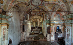 Church of Frescoes (Left in the Lurch) Tags: abandoned church frescoes urbex