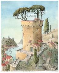 17 november 2017 «Torre Guinigi» (visual_walery) Tags: watercolour torreguinigi picture pencil drawing sketch