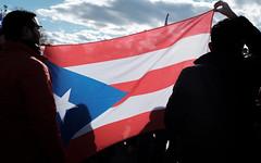 Sun shining through the flag (ep_jhu) Tags: crowds x100f silhouette washington march jonesact fabric flag fuji puertorico pr unitymarchforpuertorico dc fujifilm light districtofcolumbia unitedstates us