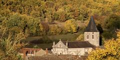My little village (Jean-Luc Peluchon) Tags: maison église forêt arbre automne couleur fz1000 lumix