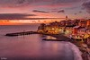 Pensieri serali (Maurizio Longinotti) Tags: pensieriserali tramonto sunset orablu bluehour chiesa church bogliasco seascape landscape view vista marligure mare sea cielo sky nuvole clouds caseallaligure pontile pier emozioni emotions liguria italia italy luci lights colori colors