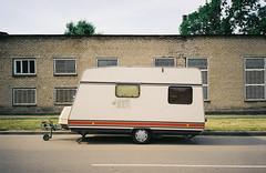 000061 (newmandrew_online) Tags: filmisnotdead film ishootfilm filmphotografy 35mm color kodak konica belarus bm300 lomography street пленка minsk minimal minimalism city industrial car
