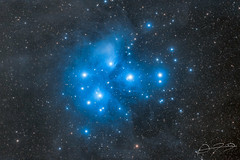 Pleaides Enhanced (Alejandro Pertuz) Tags: nebula astronomy science longexposure canon cosmos universe astrophotography