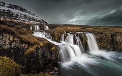 Dark Fall (Mika Laitinen) Tags: canon5dmarkiv europe iceland kirkjufell kirkjufellsfoss leefilters landscapes longexposure mountain nature outdoors river rock sky water waterfall is