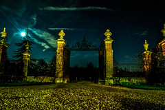 The moon, the gate and the stars (I was blind now I see!) Tags: gate stars moon astrophotography nightphotography landscape nikon d500