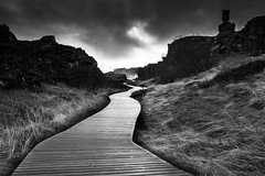 path to the waterfall (maex90) Tags: waterfall sky himmel sunset path pfad iceland island landschaft landscape nikon d3300 cloud clouds cloudy cold black blackwhite blackandwhite blackrock weg fog dark