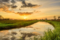 Dutch Landscape (Ellen van den Doel) Tags: mill autumn color nature reflection reflectie fall herfst november 2017 gras sky wolken groen natuur zonsondergang sunset nederland outdoor clouds holland sun zon windmolen lucht kleur water grass landscape molen windmill netherlands landschap dutch field ettenleur noordbrabant nl portfolio1