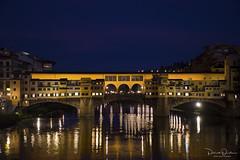 The Ponte Vecchio (Patrick Dirden) Tags: light reflection twilight river water arnoriver pontevecchio bridge florence firenze tuscany florenceitaly italy europe