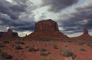 Cloudy Monument Valley