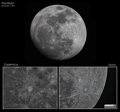 """The Moon - December 1, 2017 (LeisurelyScientist.com) Tags: tomwildoner night sky space """"outerspace"""" meade telescope lx90 celestron cgemdx asi190mc zwo astronomy astronomer science canon crater moon lunar weatherly pennsylvania observatory """"darksideobservatory"""" copernicus tycho december 2017"""