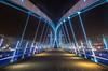 Salford Quays Millenium Lift Bridge (northcountrygirl) Tags: bbc itv salford mediacity mediacityuk manchester longexposure sigma1020 salfordquays milleniumliftbridge lowrybridge lowry quay