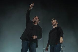 Cristiano De Andre and Osvaldo Di Dio on stage