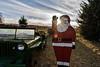 Happy Christmas! (Maggggie) Tags: farm minterfarm trees car sky clouds flare burst santa happychristmas merrychristmas holiday