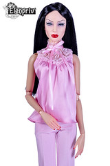 Sybarite Vivir All in Pink (elenpriv) Tags: sybarite vivir superdoll superfrock pink outfit handmade clothes for dolls elenpriv elena peredreeva 16inch fashion michaela unbehau collection