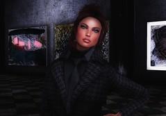 Collecting Art (Carla Putnam) Tags: woman fashion art valentinae ve stealthic womaninsuit womantie coatdress artgallery collectingart buyingart
