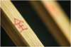 Macro Mondays - Stick  - Chopsticks (andymoore732) Tags: macromondays macro mondays stick chopsticks chop sticks chinese writing symbols green red golden tones natural wood wooden simplelighting naturallight andymoore colour nikon d500 afs vr micronikkor 105mm f28gifed challenge theme flickr