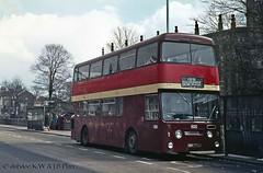 03-77 Daimler CRG6LX HWW773J at Christ Church Doncaster (dubdee) Tags: daimlerfleetline roe christchurch daimlercrg6lx jhl500p sypte felix daimler 1325 doncaster bus felixmotors hww773j