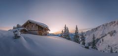 WInter Wonderland (Michael Boehmlaender Photography) Tags: landschaft alpen winter kalt schnee sonnenaufgang outdoor hütte michael böhmländer