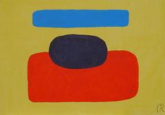 Sunflower   by Jan Theuninck, 2017 (Gray Moon Gallery) Tags: sunflower jantheuninck surrealism belgium blue black red yellow vangogh france