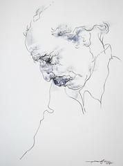 P1017380 (Gasheh) Tags: art painting drawing sketch portrait man line pen pastel gasheh 2017