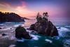 The Lost Coast, Oregon (Scott Rubey) Tags: boardman brookings clouds coast currycounty landscape light longexposure lost nature northwest ocean oregon pacific pink rock sea seastacks sunrise trees