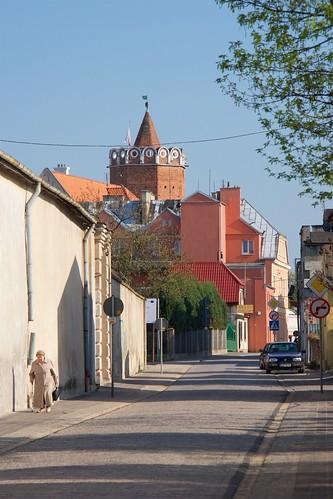 Zamek królewski w Łęczycy z Pocztowej