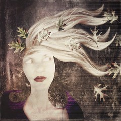 Any way the wind blows 🍃 (lorenka campos) Tags: illustration stories fairytales expressionism conceptual queen autumn leaves wind mobileartistry digital artdigital modernart popart art selfportrait portrait