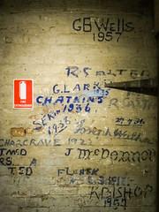 Warehouse Workers (Namlhots) Tags: australia ccancsa graffiti hobart kate tasmania tasmanianmuseumandartgallery tom