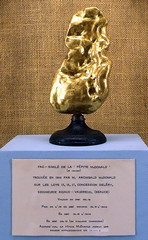 45 oz nugget, tiny gold rush (subarcticmike) Tags: gold mineral specimen public display laurentian easterntownships quebec canada littleknown goldrush subarcticmike geotagged travel laval university montreal paleoplacer lithified farming countryside 6ws sixwordstory goldfever