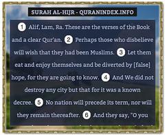 Browse, Read, Listen, Download and Share #Surah Al-Hijr [15] @ http://Quranindex.info/surah/al-hijr  #Quran #Islam (Quranindex.info) Tags: islam quran reciters surahs topics verses