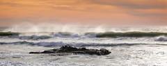 Where Feet May Fail (Calpastor) Tags: ocean sea seascape beach wave tide water california pacific landscape clouds sunset