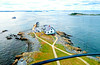 On top of Boston Light (Little Brewster Island) with the lighthouse keeper's house below, city skyline in the distance and a few harbor islands. (brooksbos) Tags: architecture brooksbos boston brooks bay harbor light lighthouse aerial islands bostonharborislands cybershot dscrx100m2 geotagged lseascape massachusetts newengland nationalhistoriclandmark rx100m2 rx100 sony summer sky skyline water littlebrewster