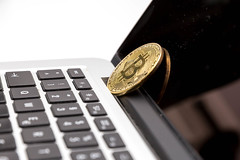 Bitcoin on a Macbook (wuestenigel) Tags: börse crypto payment shopping bubble boom minen bitcion stock money mining blockchain kryptowährungen geld ecommerce crash cryptocurrency blase business geschäft finance finanzen technology technologie keyboard tastatur currency währung noperson keineperson electronics elektronik computer laptop data daten commerce handel financial finanziell office büro telephone telefon number nummer wealth reichtum achievement leistung isolated isoliert metalkey metallschlüssel