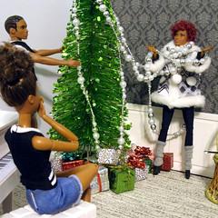 Christmas room shenanigans (back2s0ul) Tags: fashionistas barbie ken doll aa christmas decorating