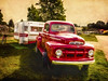 Afternoon Shade (Steve Walser) Tags: trailer trailers truck fordtruck camping rv summer