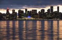 Vancouver Skyline (Clayton Perry Photoworks) Tags: vancouver bc canada northvancouver explorebc explorecanada dock burrarddrydock christmas skyline canadaplace city night lights