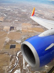 inflight over Colorado (kenjet) Tags: windowseat windowview fromthewindow aerial inflight colorado sw wn southwest swa southwestairlines wing winglet engine wn3742 boeing 737 73g 73776n n261at airtran airtranairways n7712g