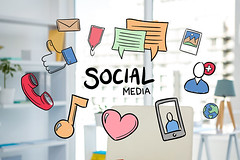 social media graphics with office background (juanjoseselivaperez1999) Tags: job career profession professional occupation businesswoman business office workplace partof holding cropped hand finger writing table working corporate desk pen blank computer using typing keyboard technology pc clipboard paper wooden wood cup coffee mug hot beverage black eyeglasses reading glasses eyewear diary agenda planner organizer organizing planning digital digitallygenerated computergraphic doodle handdrawn drawing lightbulb idea innovation innovate creative solution concept inspiration