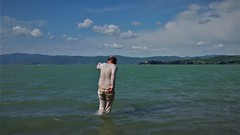 Trasimeno (marcostetter) Tags: travel nature jeans wetclothes wetclothing wetlook wetjeans water wetpants walking wateraction wetshirt barefoot fashion fullyclothed