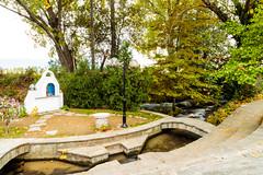 Lydia of Thyatira (CaptSpaulding) Tags: lydia greece philippi greekorthodox church stainglass water tree bap leaves stone stonework baptism