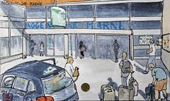La France des sous-préfectures 94 (chando*) Tags: aquarelle watercolor croquis sketch france