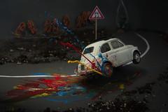 guida spericolata! (Antonio Iacobelli (Jacobson-2012)) Tags: fiat 500 sgommata model bari nikon nikkor 60mm car coachbuilder carrozziere popart acrylic colors road vehicle race driving