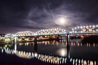 Super Moon over Chattanooga #Supermoon