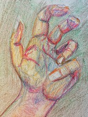 My left hand in #crayon (Howard TJ) Tags: drawing crayon