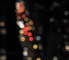 Bokeh (piranhabros) Tags: tamron90mmmacro night traffic newyork manhattan view city lights bokeh