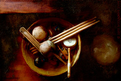 Collected (sbox) Tags: stilllife percussion instruments textures painterly painting