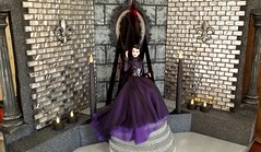 Queen of Everything Agnes - Throne - Mirror Mirror Diorama (JennFL2) Tags: agnes queen everything fashion fairytale centerpiece throne diorama mirror wicked snow white disney villain integrity toys von weiss castle