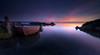 remanso de paz (hectoriz) Tags: mar barca amanecer cielo