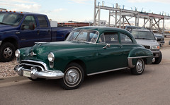 1949 Oldsmobile 88 2 Door Sedan (coconv) Tags: car cars vintage auto automobile vehicles vehicle autos photo photos photograph photographs automobiles antique picture pictures image images collectible old collectors classic blart oldsmobile 88 2 door sedan coupe green olds eithty eight 1949 49