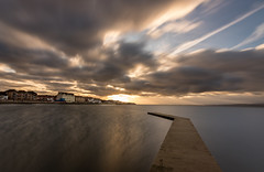 The Joggers Sunrise (Rob Pitt) Tags: sunrise west kirby marine lake longexposure clouds jetty wirral nd1000 rob pitt photography water morning autumn 750d tokina 1116